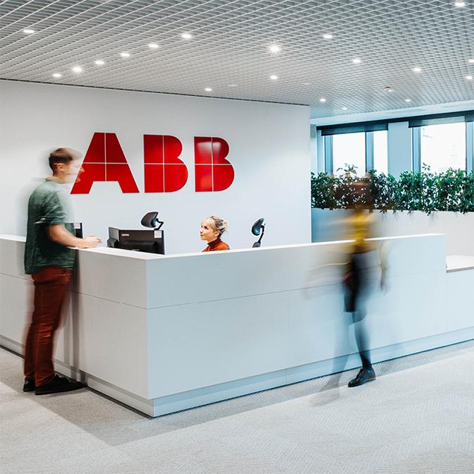 Wayfinding signage design for ABB